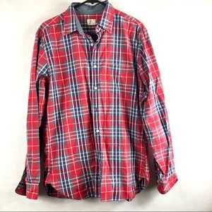 JCREW RED PLAID Medium button down long sleeve